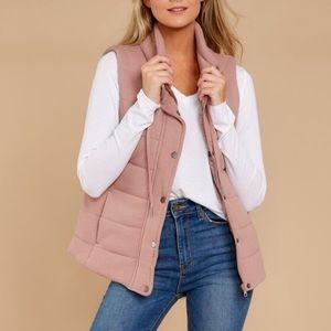 Jackets & Blazers - Mauve pink puffy vest Boutique